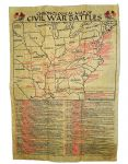 Parchment Paper Civil War Battlefields Poster